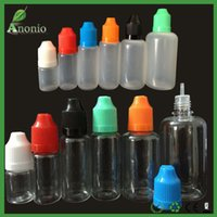 plastic screw bottle 2018 - 5ml 10ml 15ml 20ml 30ml PET PE Plastic Dropper Bottles Needle Bottles With Childproof Cap E Liquid Bottles Long Thin Tip Empty Bottles