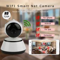pc wifi al por mayor-V380 HD 720P Cámara IP WiFi Cámara de Seguridad Inteligente Inalámbrica Micro SD Red Giratorio Defender Inicio Telecam HD CCTV IOS PC