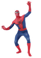 Men spandex material - breathable material new Spiderman Costumes Zentai suits Lycra Spandex Halloween Costumes cosplay