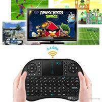 ingrosso tastiera del mouse dell'aria di tocco bianco-2.4G Touch Fly Air Mouse BlackWhite Portable Rii Mini i8 Wireless tastiera Mouse Combo Touchpad PC