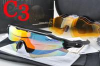Wholesale Top Cycling Sunglasses - Top quality 5 lens RadarEV Pitch Polarized sun glasses coating sunglass for women man sport sunglasses riding glasses Cycling Eyewear uv400