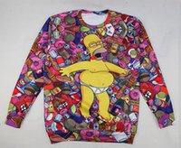 Wholesale Simpsons Bart Pullover - Wholesale-2015 Hot sale the bart simpson Cartoon 3D Hoodies drunk & duff beers printed sweatshirt kawaii los simpsons pullovers