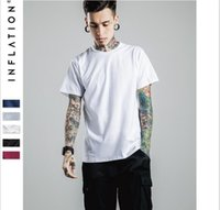 Wholesale Mens Plain Tee Shirts - mens clothing summer style streetwear hiphop mens designer clothes M-2XL tee shirts grey Elong extended plain t shirt hight quality free shi