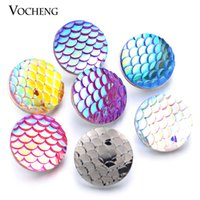 Wholesale Imitation Bag Wholesale - VOCHENG Noosa Snap Jewelry Interchangeable Imitation Platinum Plated Buttons Snap Jewelry MIX 10pcs bag Trend Jewelry (Vn-322)