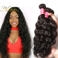 Nadula Hair Brazilian Natural Wave 3Bundles Trajes de cabelo humano não-Remy 8-26inch Cor natural pode ser Perded Hair Weave Smooth Long Life