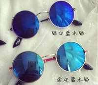 Wholesale Mirror Wholesale Section - 2015 Vintage metal circular frame Prince mirror sunglasses baby boys and girls section paternity glasses sunglasses tide