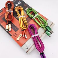 Cable Usb Baratos-CALOR Cable de color de carga Cable de color cambiante PU TPE 2.1A Carga rápida Cable de 1M 3FT tocando el cable de color cambiante para Samsung Android Phon