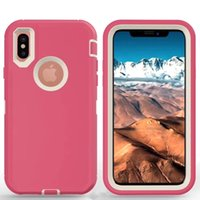 Wholesale Galaxy Note Belt Clip - Defender Case For iPhone X 6 6S 7 Plus 5 5S SE 5C Robot Armor Cover For Galaxy S8 S9 Plus S7 edge S6 S5 Note 8 5 4 Without Belt Clip