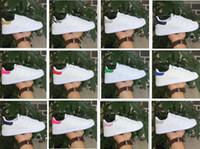 zapatos de rayas de cebra al por mayor-Nuevos llegan las rayas de cebra Stan Zapatos para hombres y mujeres Zapatillas de moda Casual Sport Leather Lovers Smith Zapatos Zapatos Mujer talla 36-44