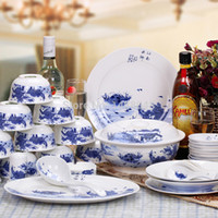 Wholesale China Diamond Tools - Diamond ceramic bowl set 56 bone china dinnerware set glaze color , cooking tools, can use microwave oven, dishwasher