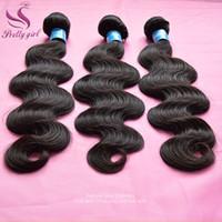 Wholesale Eurasian Wavy - Peruvian Virgin Hair Body Wave Wavy Unprocessed Human Hair Weaves Bundles 8A Brazilian Malaysian Indian Cambodian Eurasian Hair Extensions
