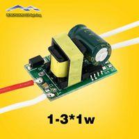Wholesale 3w Power Led Driver - Output 280-300Ma DC3-12v 1-3*1w Led Driver Input voltage AC85-265V 1w 2w 3w LED Lamp Driver Power Supply