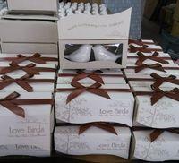 porte-bijoux en carton achat en gros de-Souvenirs de mariage utiles Les invités aiment les oiseaux salière et poivrière Cadeaux d'anniversaire de mariage indien Vente en gros 2pcs pour 1 set