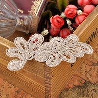Wholesale Lace Trim For Sewing - Handmade Lace Trim Appliques Flower Sewing Trims DIY Craft Lace Applique for Wedding Dress Hair Costume Accessories YR0007