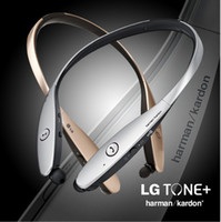 Wholesale Chip Gold - Bluetooth Headset HBS900 HBS 900 HBS-900 Headphones In-Ear Noise Cancelling LG L G Tone Infinim with CSR8645 chip lg neckband Earphones