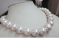 """Wholesale Australian South Sea Nuclear Pearl - free shipping HUGE 18""""12-15MM NATURAL AUSTRALIAN SOUTH SEA GENUINE WHITE NUCLEAR PEARL NECKLACE"""
