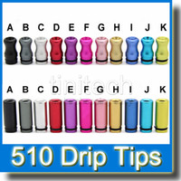 Wholesale Ego Dct V2 - Electronic Cigarette Colorful Metal Drip Tip Aluminum 510 Drip Tips Aluminum for Vivi Nova DCT V2 iClear30b Protank Atomizer EGO Drip Tip