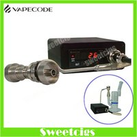 Wholesale Heater Wax - Electric dab nail the dab VAPECODE nail heater box temperature control box with Gr2 titanium nail for glass bong herbal wax