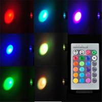 farbe wechselnde deckenleuchten großhandel-RGB-Farbpunktlichtfernändernder MR16 e27 gu10 rgb geführte Deckenpunktfernbefestigung AC85-265V DC12V CER RoHS FCC UL