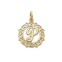 Wholesale Wholesale Make P - Free shipping New Fashion Easy to diy 17.5*21 mm metal letter p in circle charm 20pcs jewelry making fit for necklace or bracelet
