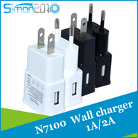 Wholesale 5V A A for samsung S6 EU US Plug Travel Wall Charger home adapter For Galaxy S5 S4 S3 Note2 N7100