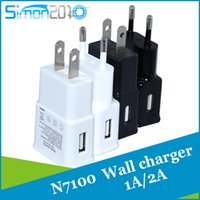 Wholesale Galaxy Note2 Charger - 5V 2A 1A for samsung S6 EU US Plug Travel Wall Charger home adapter For Galaxy S5 S4 S3 Note2 N7100