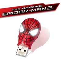 Wholesale Amazing Spiderman Mask - SPIDERMAN 2 Waterproof 256GB 128GB Amazing Spider Mask METAL USB2.0 Flash Drive memory pen drive pendrives thumbdrive Retail metal package