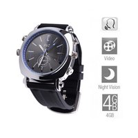 Wholesale Hd Dvr Watch 4gb - HD IR Waterproof 4GB Watch Camera With Voice activation PC Camera Night Vision Watch DVR