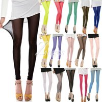 Wholesale Sexy Fitting Leggings - Women's Sexy 15 Candy Colors Mesh Sheer Stretchy Leggings Pants Elastic Summer Pants Wholesale Slim Fit Wholesale BD0095