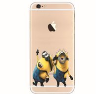 30pcs 3D Cartoon Cute Despicable Me Minions Case Creative Colored Drawing Cases Soft TPU Back Cover Pour iphone 5 5s 6 4.7inch 6 plus XY27