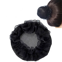 Wholesale crochet hair snood for sale - Group buy Women Bun Cover Snood Hair Net Ballet Dance Skating Mesh Bun Cover For Women Crochet Hairnet Accessories