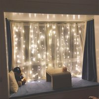 Wholesale outdoor window christmas decorations - Twinkle Star 300 LED Window Curtain String Light for Wedding Party Home Garden Bedroom Outdoor Indoor Wall Decorations (Warm White)