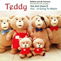 ingrosso bambola di orsacchiotto-Spedizione Gratuita Teddy Bear Ted Morbido Peluche 43 CM Animali di Peluche Ted Bear Peluche Bambole di Alta Qualità Per Bambini Regalo di Pasqua