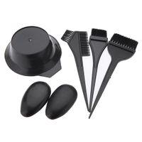 Wholesale Tinting Bowl Brush Set - 6pcs Hairdressing Brushes Bowl Combo Salon Hair Color Dye Tint Tool Set Kit W169