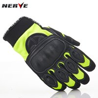 Wholesale Riding Gloves For Women - 2016 New Authentic NERVE KQ-016 German summer motorcycle gloves breathable drop resistance knight riding gloves leather gloves for men women