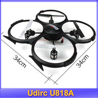 Wholesale Free Picture Camera - Wholesale-Free shipping!! Udirc 2015 new RC helicopter gyroscope Quadrocopter Camera UFO U818A Taking picture 2.4G remote control toys
