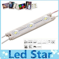 Wholesale Diy Led Module - 2015 Newest Led Modules With Lens 160 Angle Waterproof IP65 SMD 5050 3 Leds 84LM Warm Cold White Red Blue Green For Channel Letter DIY