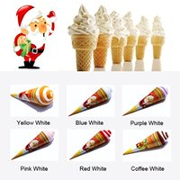 Wholesale Towel Valentine Gifts - Beauty Ice Cream Towel Multi Color For Wedding Christmas Valentines Birthday Gifts 200pcs