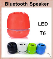 Wholesale hi fi tablet for sale - Group buy T6 Bluetooth Speakers led egg Mini Wireless Portable Speakers HI FI Music Player Audio for S5 note4 Mp3 PSP Tablet DHL FREE Best MIS063