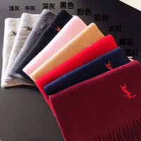 Wholesale Scarf Two Sides - Exquisite embroidery brand scarf fashionable women and women's winter style, cashmere shawl soft and two-sided shawl