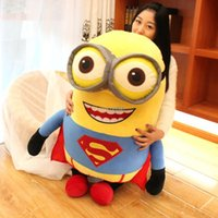 Wholesale Superman Bear Teddy - Fancytrader 39'' 100cm Giant Plush Superman Dress 3D Despicable Me Minion Free Shipping FT90365