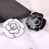 Wholesale famous tie - Classic camellia hair ties famous logo shape decoration hair rope classic pattern party gift