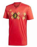 Wholesale Belgian Red - Thai Quality 2018 World Cup Belgium Soccer Jerseys Home Red LUKAKU FELLAINI E.HAZARD KOMPANY DE BRUYNE Belgian Soccer Shirt Football Uniform