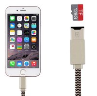 2 em 1 USB Microsd Micro SD TF Card Reader + Cabo de carregamento para iPhone 6 6s 7 8 X mais ipad Macbook