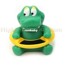 Wholesale Cute Baby Bath Tubs - Hot Cute Crocodile Dream Baby Infant Bath Tub Thermometer Water Temperature Tester Toy