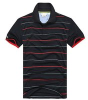 hommes polos chemises livraison gratuite achat en gros de-Été Vente Chaude Polo Shirt Marque Polos Hommes À Manches Courtes Sport Crocodile Logo Polo Homme Manteau Drop Livraison Gratuite