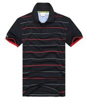 ceket satışı ücretsiz gönderim toptan satış-Yaz Sıcak Satış Polo Gömlek Marka Polos Erkekler Kısa Kollu Spor Timsah Logosu Polo Adam Ceket Damla Ücretsiz Kargo