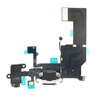 conector de prueba al por mayor-10 unids / lote prueba uno por uno Cable de Flexión de Carga USB de Reemplazo para iphone 5 5g auriculares Audio Jack Puerto USB conector de muelle