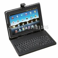 Wholesale Android Tablet Cover Leather Bag - New! Hot! USB Keyboard Leather Stand Case Cover + Stylus Pen For 10 10.1 Inch Android Tablet PC Wallet Pouch Bag Protector A5