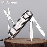Wholesale File Ring - Multifunctional Nail Clipper Stainless Steel Belt Finger File Ring Finger Scissors Belt Bottle Opener Finger Plier Scissorss